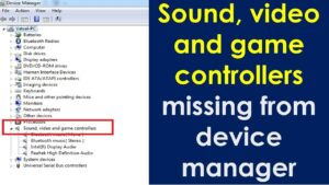 device manager sound